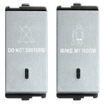 Do Not Disturb & Make My Room 1 Module (1+1) Switch With LED Indicator 1 Module